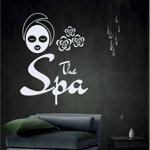 Girls Wall Decal Salon Beauty Spa Vinyl Wall Decals Women Facial Mask Mask Indoor Decoration Wall Art Massage