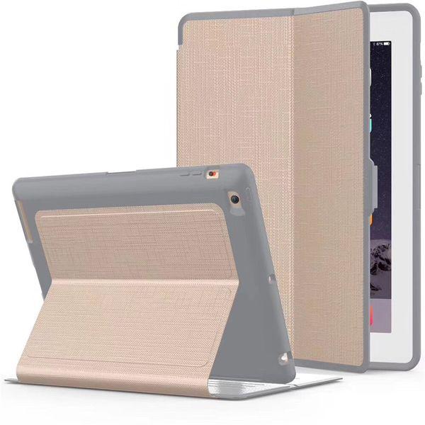 Pour Ipad Air 2 - Étui en cuir - Étui de protection robuste avec support de veille complet pour tout le corps, pour dormir