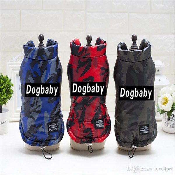 F69c pet dogs cotton vests dog winter vest winter clothes warm coat 2018 new style free shipping