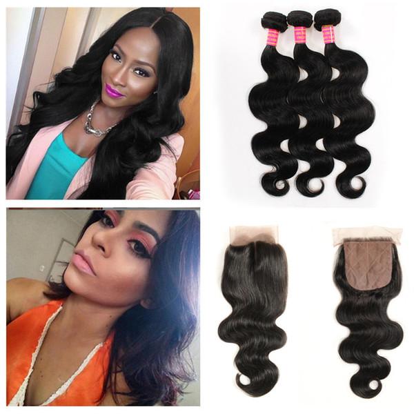 Brazilian Peruvian Indian Malaysian Virgin Hair Closure Body Wave Human Hair Bundles With Block Bundles Remy Human Hair Extensions J62