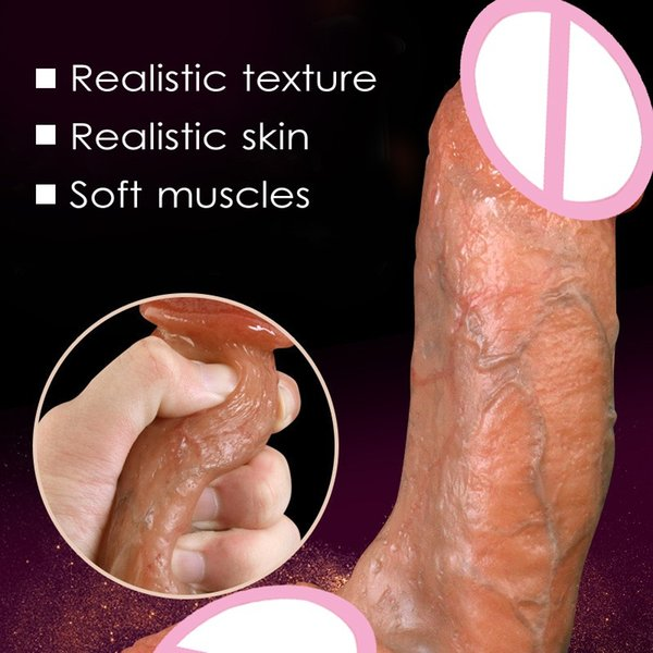 Skin feeling Realistic Penis Super Huge Big Dildo With Suction Cup Sex Toys for Woman Sex Products Female Masturbation Cock