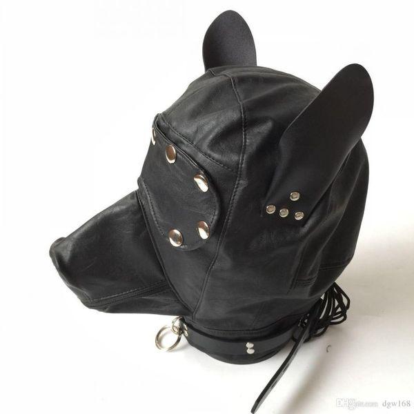 Adult games cosplay horse headgear leather bondage bdsm fetish slave blindfold mask cap head restraints hood sex toys products