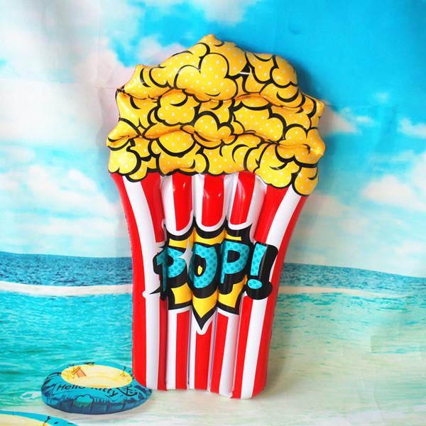 110 centimetri Popcorn Bambini piscina gonfiabile galleggiante 2019 Nuovo Lie-on delle ragazze dei ragazzi di anello di nuoto Beach Party Estate Acqua Giocattoli Air Mattress