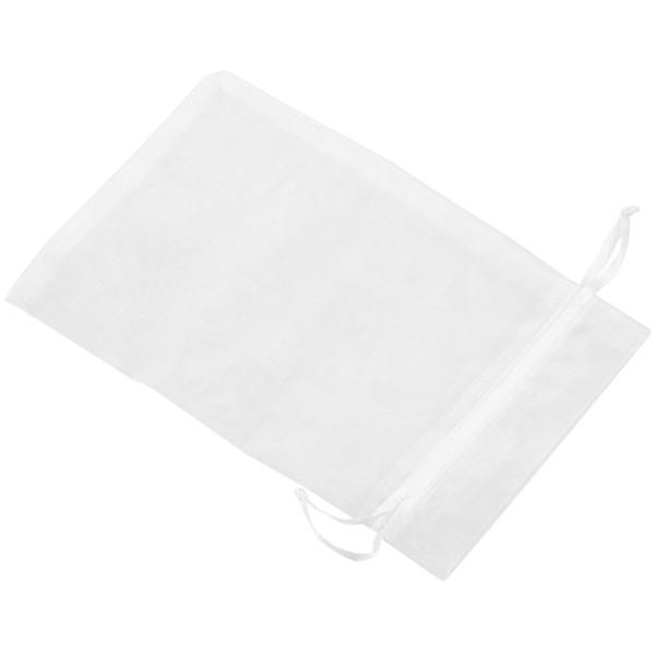 ABFU-Saten Düğün Ziyafet Hediyeler için Organze Dantel Çanta (Beyaz, 50 Set)