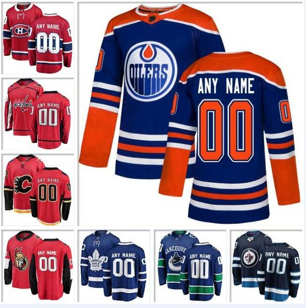 Benutzerdefinierte Kanada Nhl Hockey Teams Trikot Vancouver Canucks Ottawa Senatoren Winnipeg Jets Toronto Maple Leafs authentische Eishockey Trikots