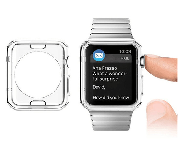 Cubierta transparente para el marco de la carcasa transparente transparente ultra delgada PC para Apple Watch Series 3 2 1 iwatch 38mm 42mm
