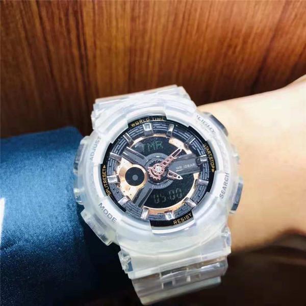 Mens Mulheres Transparente De Borracha Relógios 2019 Moda Chegada Nova Produto Ao Ar Livre Dos Homens Esportes Alarme Digital G Estilo Relógio de Pulso Choque Relógio Presente