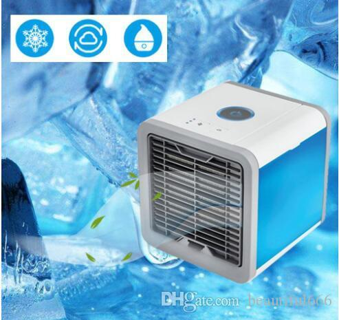 Прохладный USB Мини Портативный Кондиционер Увлажнитель очиститель 7 цветов свет для рабочего воздуха Вентилятор охлаждения воздуха Cooler Вентилятор для Office для дома