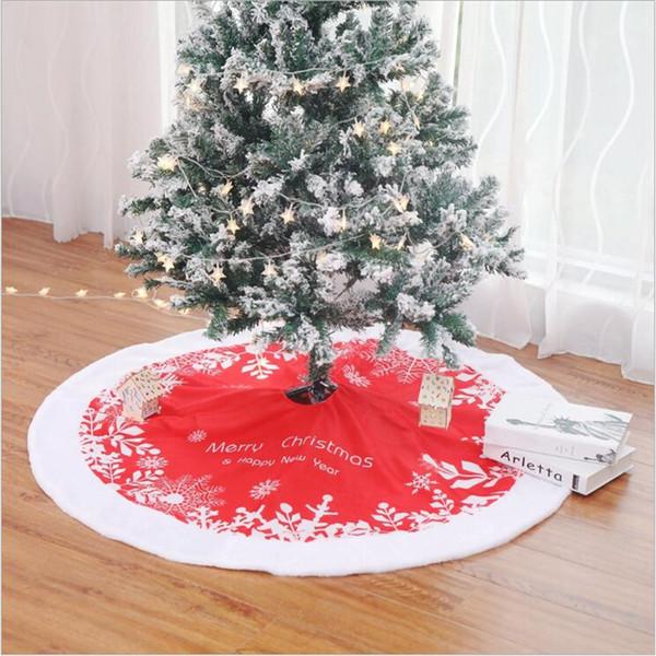 AOVOLL 2019 Новые рождественские товары рождественской елки платье красное дерево Коврики Under Круглые Коврики Украшение Коврики