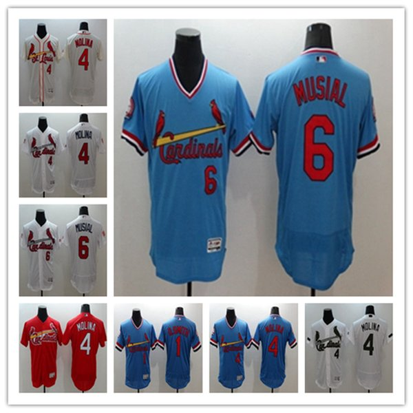 051c75c5 2018 St. Louis Cardinals Men Jersey 4 Yadier Molina Jersey #6 Stan Musial  Cooperstown Vintage #1 Ozzie Smith Baseball Jerseys From Cky01, $24.02 | ...