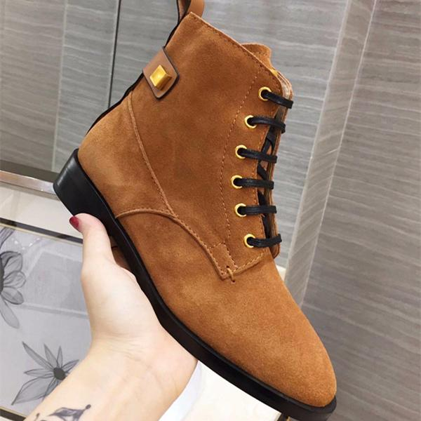 Hot Sale- THE RYDER BOOTIE Combat-inspired Bootie Lace-up Boot Fashion Classic Women Boot Women Casual Shoes Top Quality Original Box