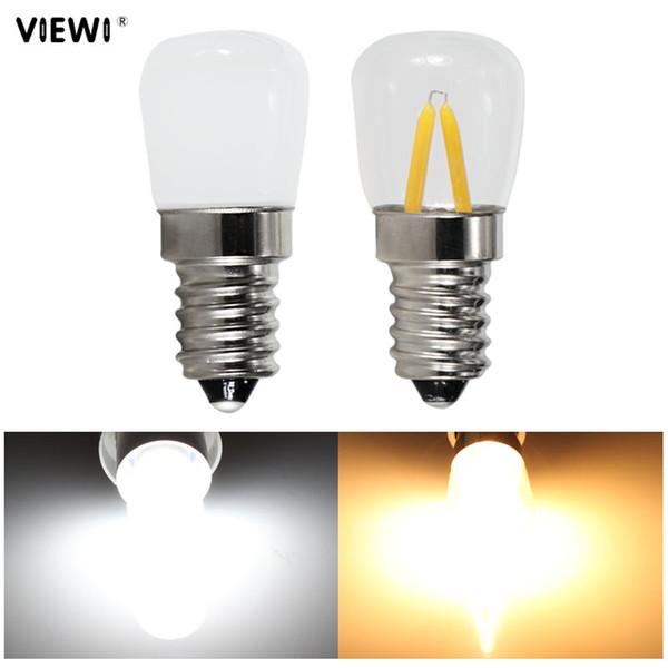T22 E14 E12 llevó la luz del filamento 1.5W 12v 110v 220v COB cáscara de vidrio mini Bombilla de noche Refrigerador Frigorífico Congelador Lámparas de araña