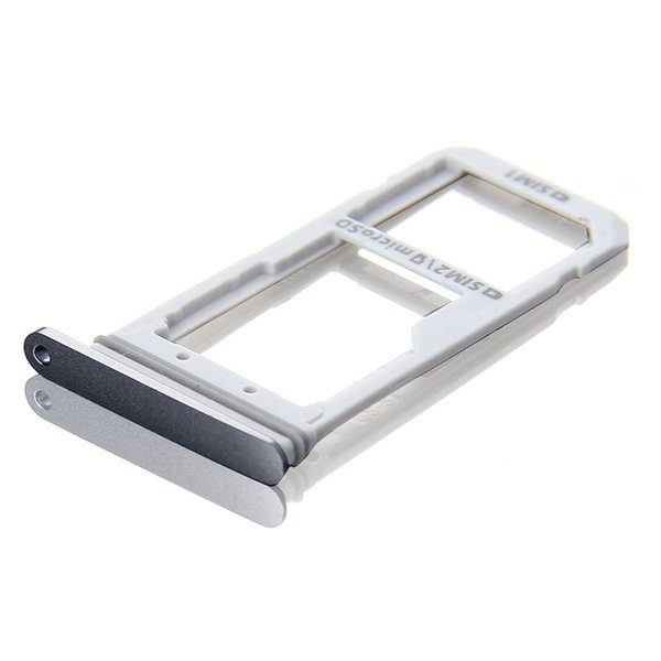 100pcs/lot New Sim Micro SD Memory Card Tray Holder S For Samsung Galaxy S7 G930F S7 edge G935F Replacement Parts (silver black gold)