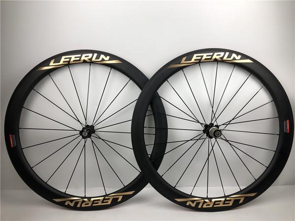 2 anni di garanzia 700C U Shape Full Wheels Bike in fibra di carbonio 38mm 50mm Copertoncino 25mm Cerchi di larghezza Carbon Road Bicycle Anteriore e posteriore Ruote