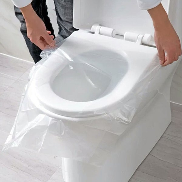 150 Pcs Portable Disposable Toilet Seat Cover Safety Travel Bathroom Toilet Paper Pad Bathroom Accessories