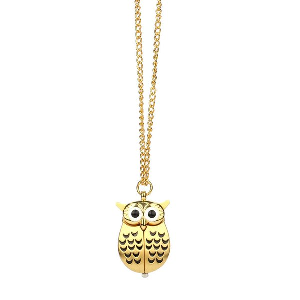 Hot classic owl bronze vintage quartz pocket FOB watch popular gifts for boys and girls kids