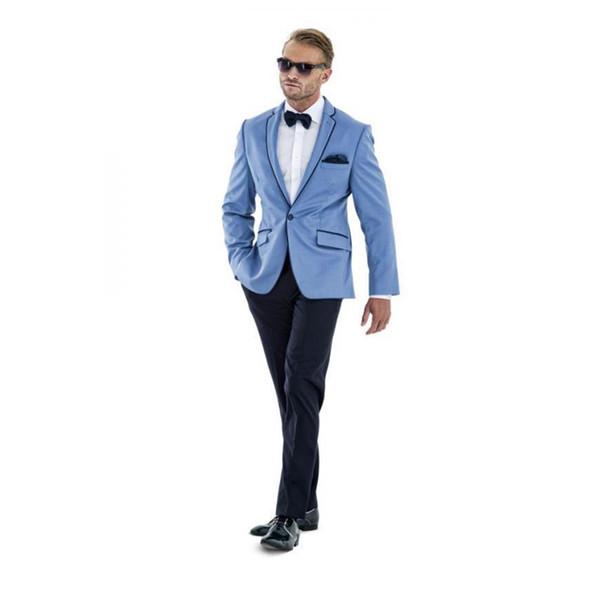One Button Wedding Suits for Men 2 Pieces Groom Tuxedos Mens Bridegroom Suits Men's Sets ( Jacket+Pants)