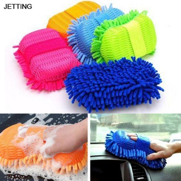 JETTING 1 pcs Car wash gloves car cleaning sponge Window Cleaning Ultrafine Fiber Chenille Washer Sponge Brush Supplies