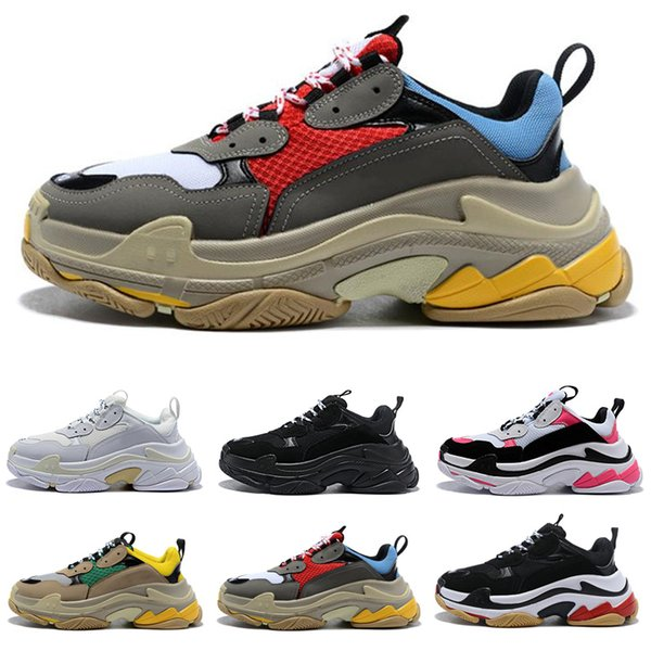 2019 Paris 17FW Triple S Hombre Sneaker Triple-S Casual Luxury Dad Shoes Mujer Beige Sports Tennis Designer Running Trainers Zapatos 36-45