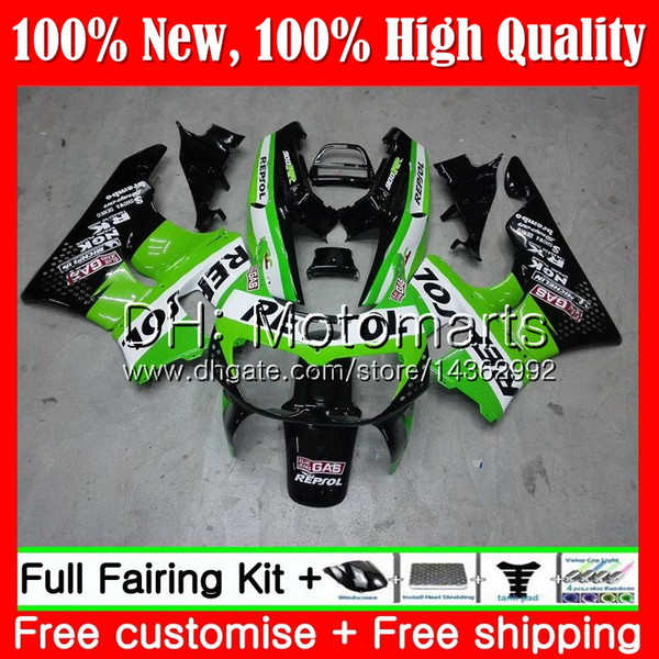 Body For HONDA CBR 893RR CBR900RR CBR893RR 94 95 96 97 Repsol Green 71MT17 CBR 893 CBR900 CBR893 RR 1994 1995 1996 1997 Fairing Bodywork
