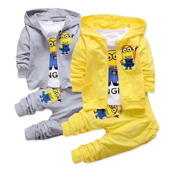 Garçons bébés layette vêtements veste pull pantalon de survêtement All in One 3 PC Set