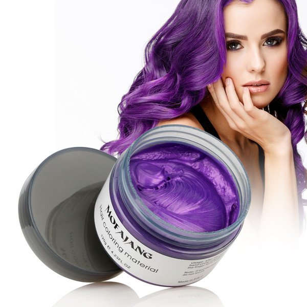 best selling 2019 new Hair Coloring Mateial 100% Natural Ingredients Hair Wax Hair Styling Wax Big Skeleton Slicked 8 colors free shipping