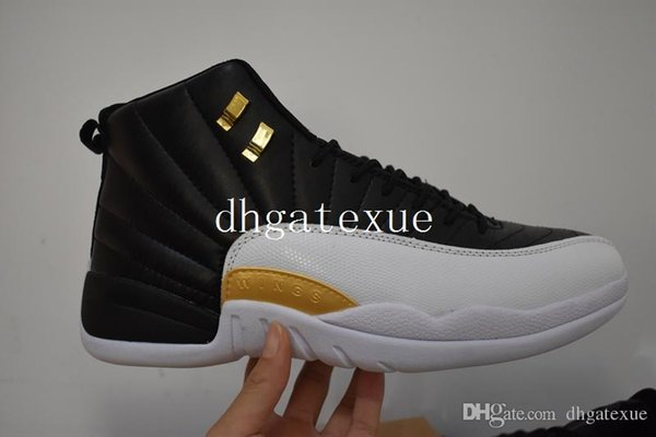 online store c81f2 eda6c XII Wings Shoes Mens 12s Wings Black Metallic Gold White Shoes Size Us 7  12Free Shipping 12s Flu Game Sneakers For Men With Box Shoes For Women  Dansko ...