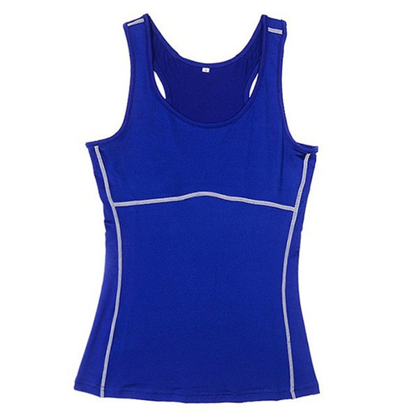 Women Compression Under Base Sports Wear Yoga Tank Tops Ladies Gym Shirts Skins Clothes Running Cami Vest New #335123
