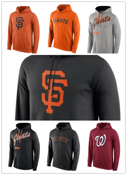 new product 233e7 09b8c 2018 2018 Men'S New Hoodie Sweater Washington Nationals San Francisco  Giants Royal Logo Performance Pullover Hoodie Sweatshirts From Ajersey06,  $23.36 ...