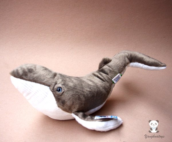 Super Soft Whale Doll Toys Real Life Plush Stuffed Animals Children'S Toy Puzzle Humpback whales Dolls Present Aquatic creatures