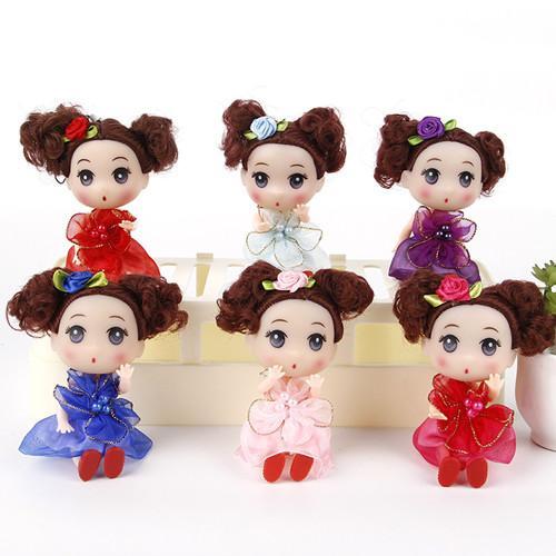 12CM boneca brinquedos de crianças DIY Dress up linda princesa Boneca macia do bebê Interativo Dolls Toy Moda Mini para meninas e meninos brinquedos de pelúcia de aniversário