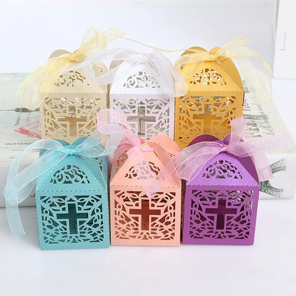 Cheap Wedding Favor Holders Candy Chocolate Gift Boxes Bridal Birthday Hollow Paper Box Rectangle Country Beach Wedding Gifts Souvenirs