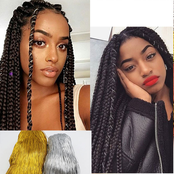 Magic String Box Braids Hair Accessories Braiding Hair Deco Styling Thin  Shimmer Stretechable Braiding Strings 10 Strands Bun Hair Tool Bun Tools  From