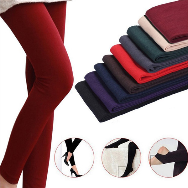 Autumn and winter ladies fashion brushed pants bamboo charcoal thickening brushed trousers stepping feet women wearing leggings