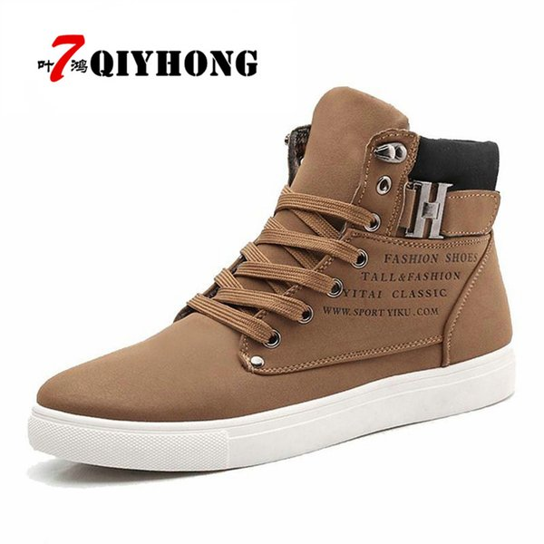 wholesale Hot Men Shoes Fashion Warm Fur Winter Men Boots Of Autumn Leather Footwear For Man New High Top Canvas Casual Shoes