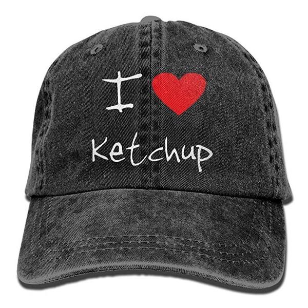 7ecf4f5aa 2019 New Custom Baseball Caps I Love Heart Ketchup Trend Printing Cowboy  Hat Fashion Baseball Cap For Men And Women Black Customized Hats Custom Hat  ...