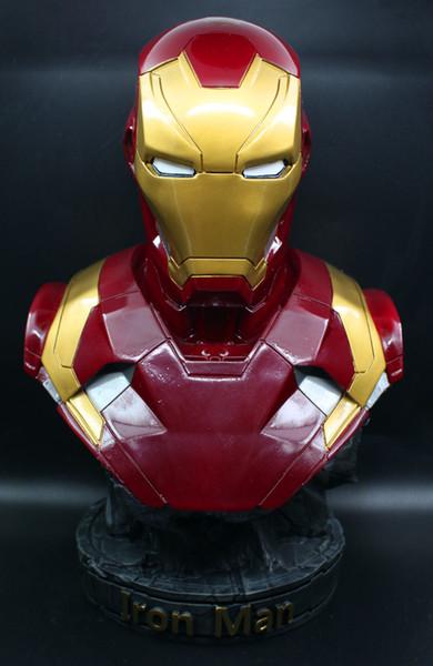 [ÜST] Büyük boy 36 cm Avengers kahraman Demir adam MK46 Boyama reçine şekil heykeli oyuncaklar Koleksiyonu modeli masası Süsler hediye