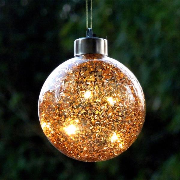 Diamètre = 20cm verre bronze Boule de Noël en verre argenté éclairage Globe arbre de Noël Décorations Mall fête de vacances Props fenêtre