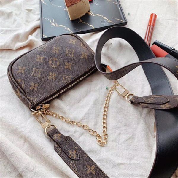Mini Girls Crossbody Brand Bags Tamaño 14 cm Carta Classice Mejor cambio de bolsillo Venta Nueva llegada Moda Flor antigua Más nuevos bolsos de cadena para mujer