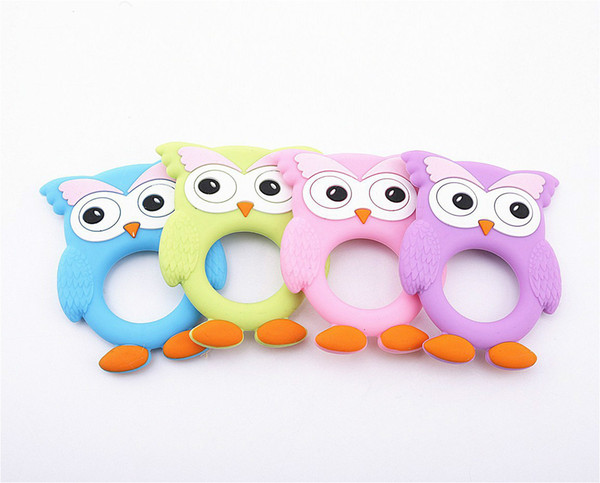 Baby Food Grade Silicone Teether Cute Animal Party Chew Baby Baby Child Teeth Toy DIY Chew Necklace Care Tool