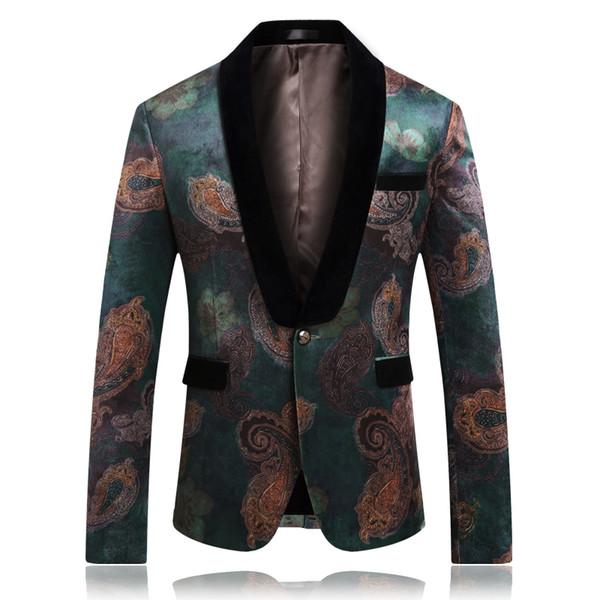 Cavalheiro flor casaco festa de Casamento homens vestido de jaqueta Fino projeto mens ternos blazers tamanho Ásia S-5XL homens paletó