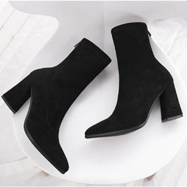 mulheres designer de moda de luxo inicia austrália mulheres botas botas de salto alto tornozelo Suede partido botas de inverno das sapatas de vestido