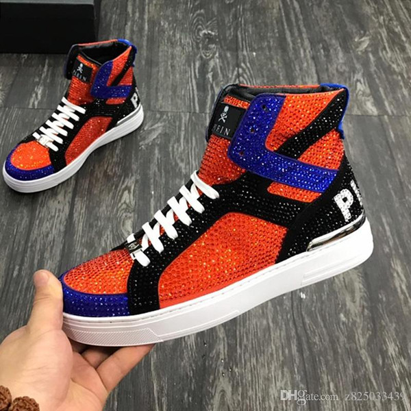 Men's Hi-Top Fashion Sneakers Leather Casual Sports Athletic Sneaker