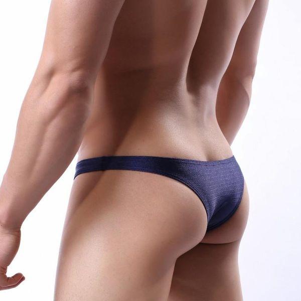 Men sexy thongs bikini nylon underwear briefs men g-string gay underwear Low Waist sexy Men Jockstrap shinny underpanties