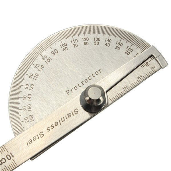 MIRUI Stainless Steel Protractor Angle Finder Arm Measuring Round Head General Tool Craftsman Rule Ruler Machinist Goniometer