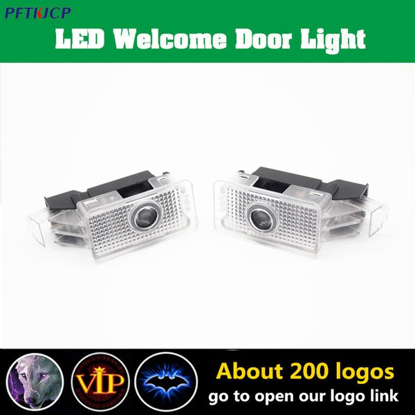 2 PCS LED Car Door Light Warning Lamp Projector For Acura MDX ZDX TL RLX led light special light car accessories