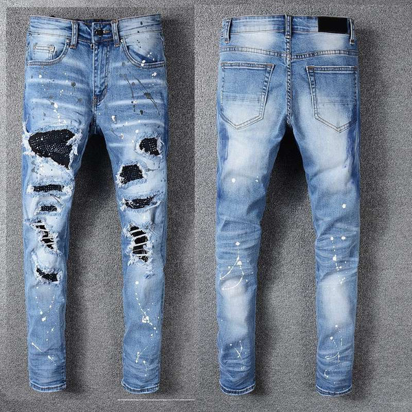 Herren Designer Hosen New Style Casual Skinny Jogginghose Herren Designer Jeans Drop Crotch Jogginghose Herren Jeans