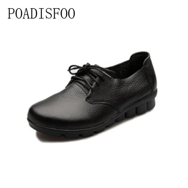 Designer Dress Shoes 2019 newHandmade leather women's soft cowhide mothers comfortable comfortable pregnant women workers .CSG-105