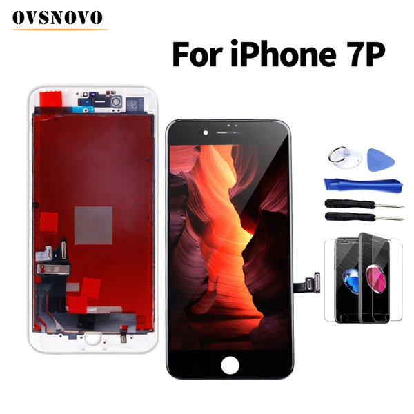 Fast delivery ecran For iPhone 7 plus lcd Display Screen Replacement Digitizer Assembly+Glass Protector&Tool Black/White No Spot