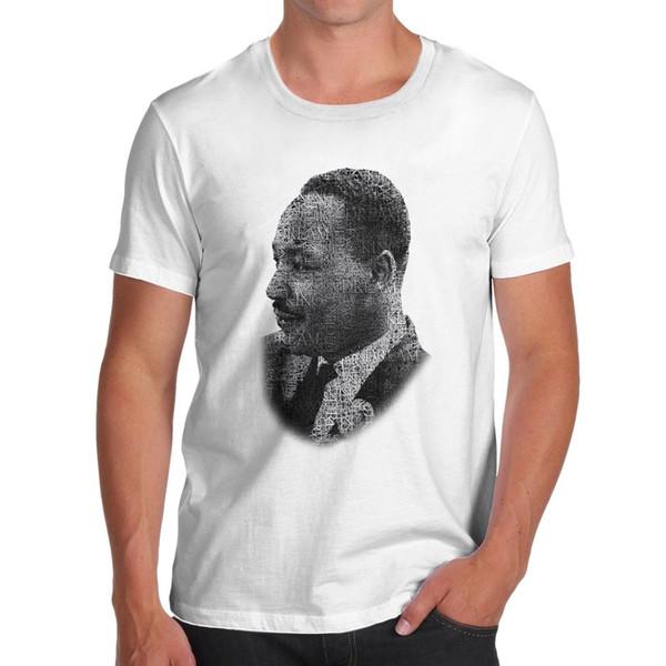 Estilo político de Martin Luther King, camiseta estilo redondo, camiseta estilo